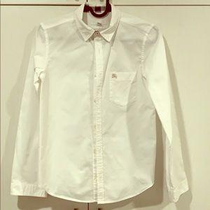 Burberry white dressy shirt